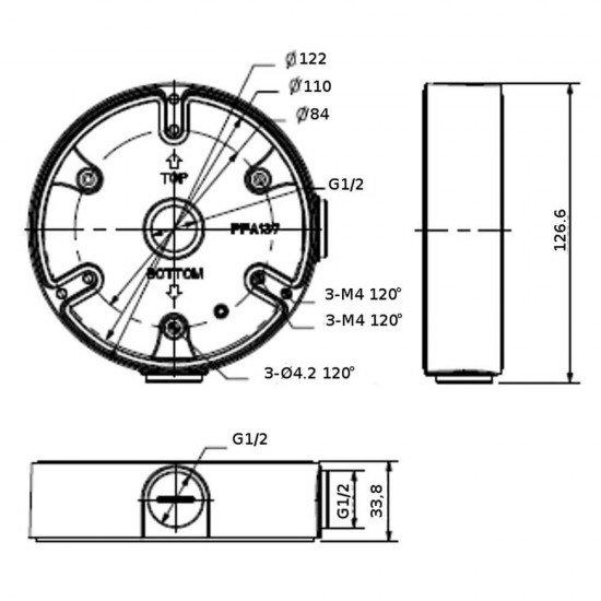Монтажна, разпределителна кутия Dahua PFA137