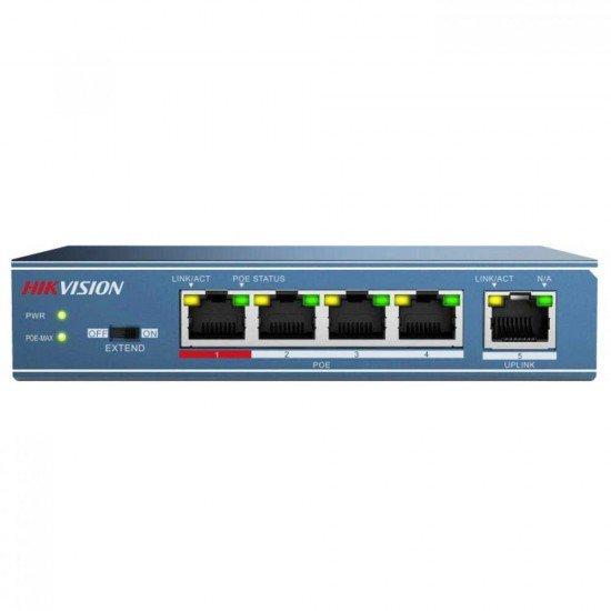 Hikvision DS-3E0105P-E, 5-портов PoE мрежов комутатор