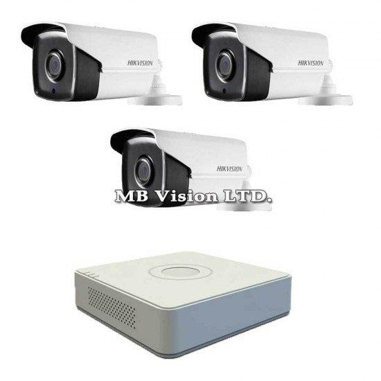 Комплект за видеонаблюдение с 3 Full HD камери + DVR