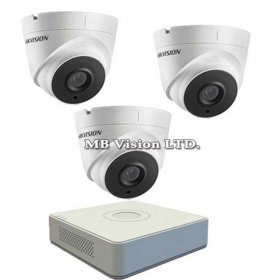 Комплект за видеонаблюдение с 3 Full HD камери и DVR