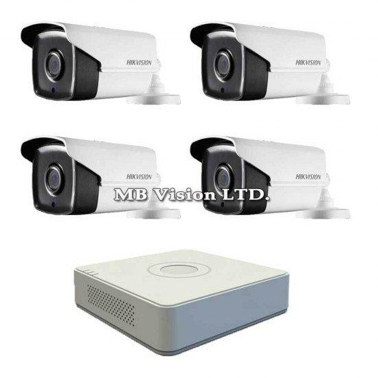 Комплект за видеонаблюдение с 4 Full HD камери + DVR