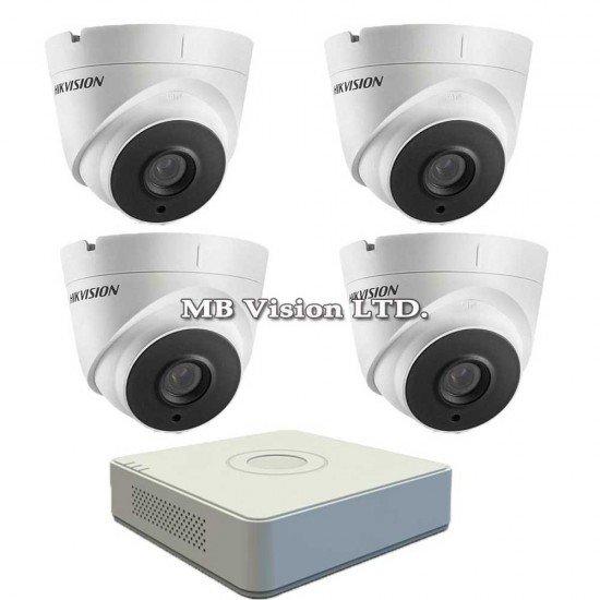 Комплект за видеонаблюдение с 4 Full HD камери и DVR