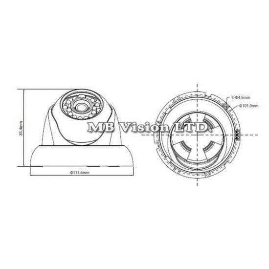 1MP HD-CVI, камера Dahua HAC-HDW1100R