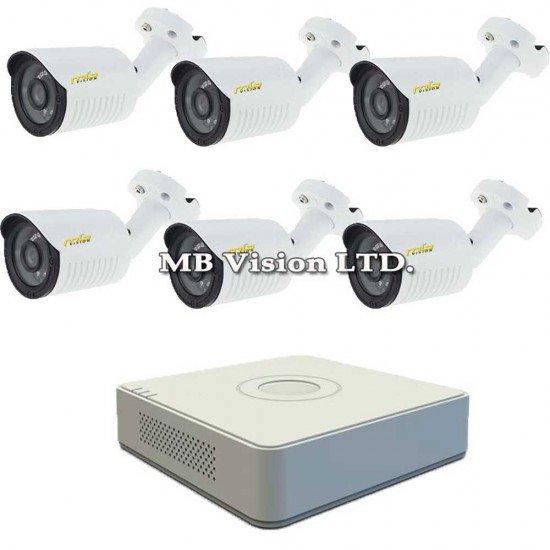 Комплект с 6 външни HD камери + DVR Hikvision