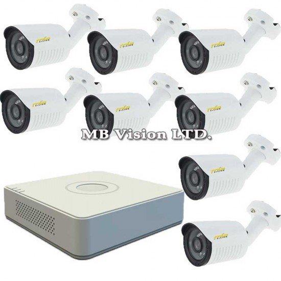 Комплект с 8 външни HD камери + DVR Hikvision
