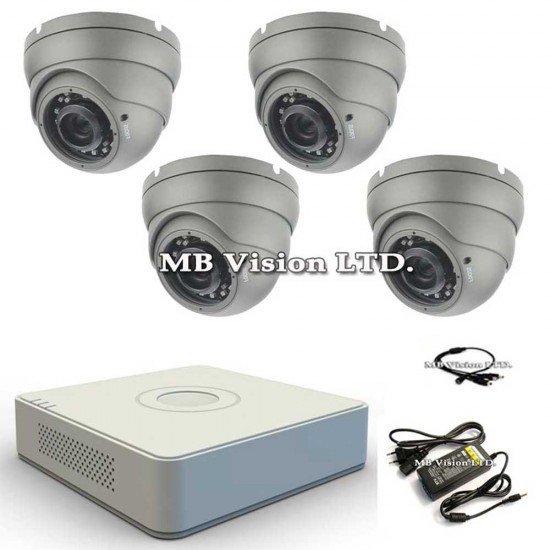 Система за видеонаблюдение 4 камери + HD DVR