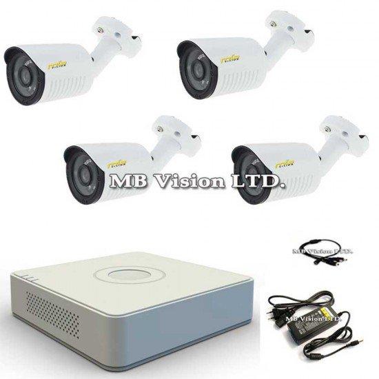 HD комплект с 4 камери за външен монтаж