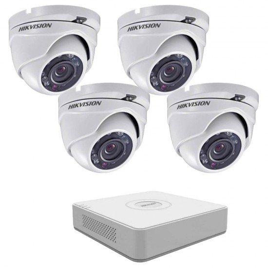 Full HD комплект Hikvision с 4 камери, DVR