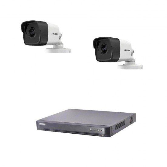 5MP комплект Hikvision с 2 камери, DVR
