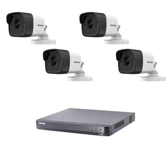 5MP комплект Hikvision с 4 камери, DVR