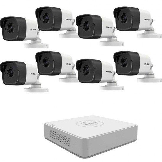 5MP комплект Hikvision с 8 камери, DVR