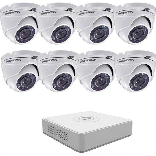 Full HD комплект Hikvision с 8 камери, DVR