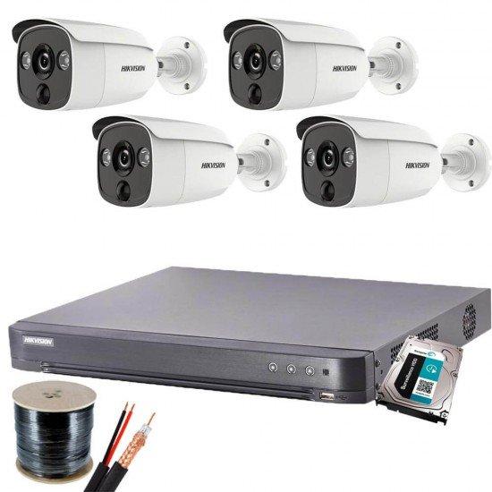 Пълен комплект с 4 булет камери 2MP, ColorVu + DVR + HDD