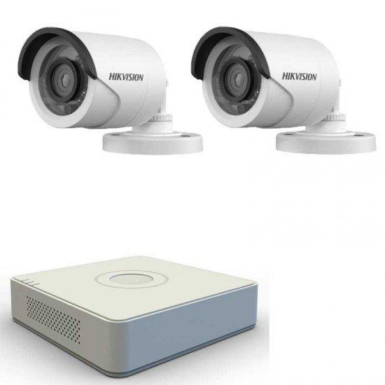 HD система за видеонаблюдение с 2 камери + DVR Hikvision